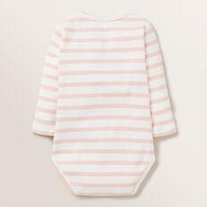 Novelty Stripe Rib Bodysuit  PRETTY PINK  hi-res