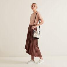 Hi-Lo Pleated Skirt  WASHED ROSE  hi-res
