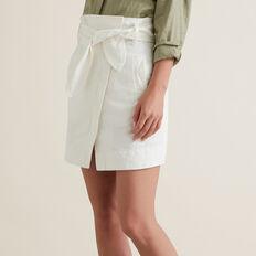 Paperbag Tie Skirt  CLOUD CREAM  hi-res
