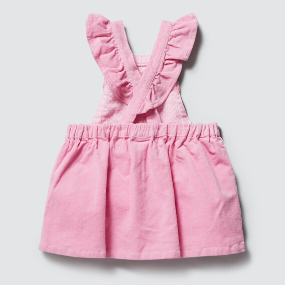 Frill Pinafore Dress  BUBBLEGUM  hi-res