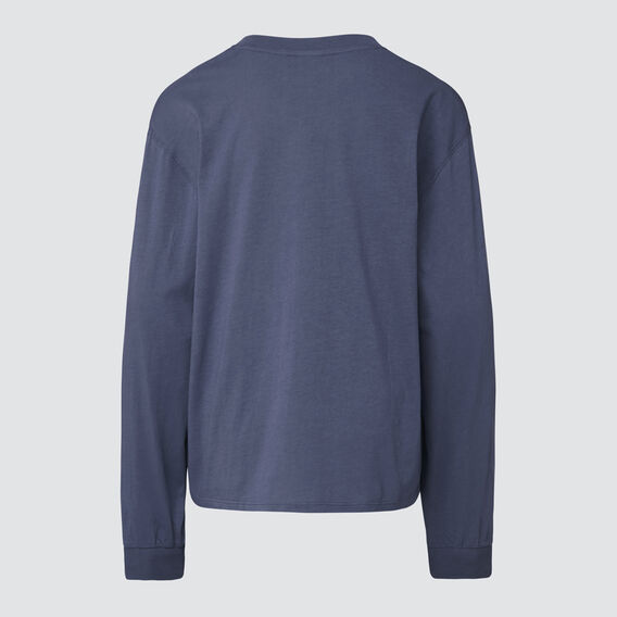Basic Long Sleeve Tee  WASHED NAVY  hi-res