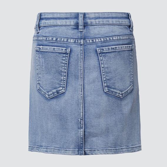 Distressed Denim Skirt  PALE BLUE WASH  hi-res