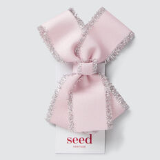 Silver Trim Bow  ICE PINK  hi-res
