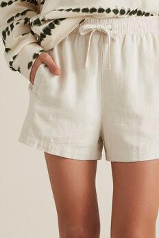Linen Short  OATMEAL  hi-res