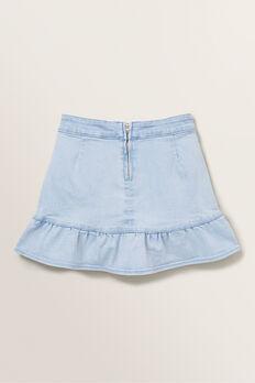 Denim Asymmetric Skirt  ICE BLUE WASH  hi-res