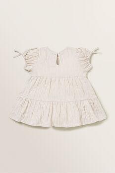 Stripe Dress  SAND  hi-res