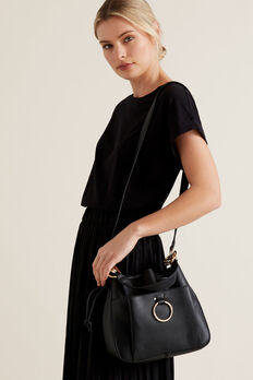 Ring Detail Bucket Bag  BLACK  hi-res