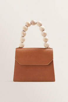 Beaded Handle Bag  TAN  hi-res