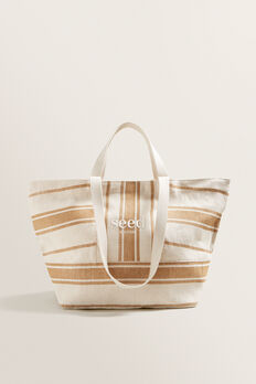 Seed Overnight Bag  NATURAL STRIPE  hi-res
