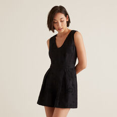 Broderie Playsuit  BLACK  hi-res