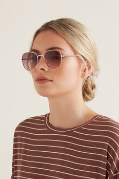 Pippa Metal Sunglasses  GOLD  hi-res