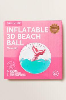NO MERMAID 3D INF BEACH BALL  MULTI  hi-res