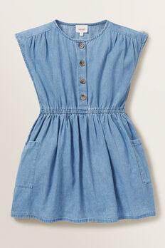 Chambray Dress  ICE BLUE WASH  hi-res