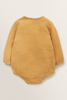 Wrap Cheesecloth Onesie  BUTTERSCOTCH  hi-res