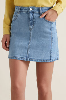 Side Panel Skirt  CLASSIC DENIM  hi-res