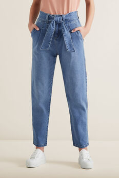 Tie Up Denim Pants  CLASSIC DENIM  hi-res