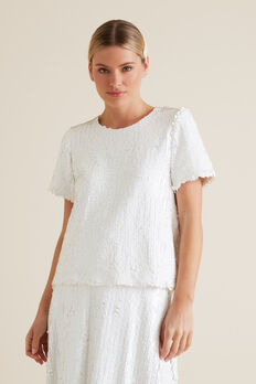Sequin Tee  WHISPER WHITE  hi-res
