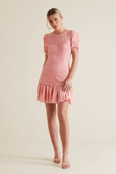 Pleat Party Dress  PINK OCELOT  hi-res