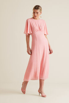Longline Flutter Dress  PINK OCELOT  hi-res