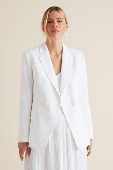 Waisted Blazer  WHISPER WHITE  hi-res