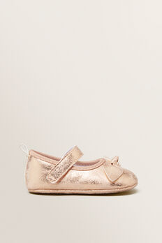 Bow Mary Jane  PALE GOLD  hi-res