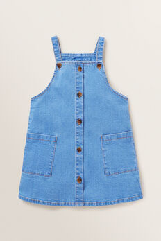 Denim Pinafore  FADED BLUE  hi-res