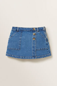 Denim Utility Skirt  CLASSIC BLUE  hi-res