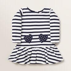 Heart Pocket Dress  NAVY  hi-res
