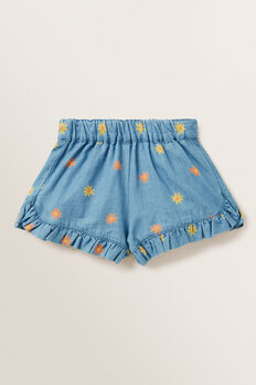 Printed Chambray Short  FADED BLUE  hi-res