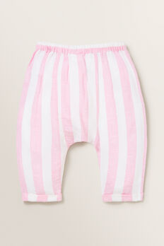 Stripe Linen Pants  PINK BLUSH/WHITE  hi-res