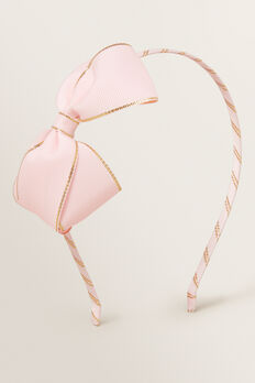 Gold Trim Bow Headband  PINK  hi-res