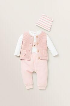 Pearl Knit Vest  PRETTY PINK  hi-res