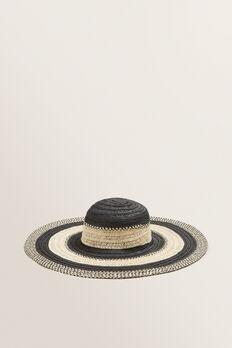 Tonal Stripe Sun Hat  BLACK/NATURAL  hi-res