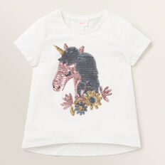 Sequin Unicorn Tee  CANVAS  hi-res