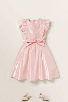 Lurex Midi Dress  ICE PINK  hi-res