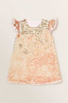 Sequin Frill Dress  ICE PINK  hi-res