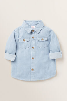 Stripe Denim Shirt  FADED BLUE  hi-res