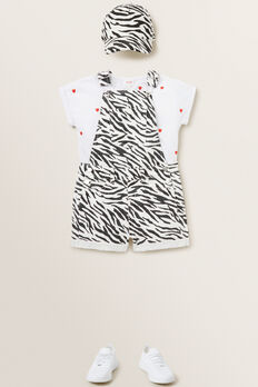 Heart Embroidered Tee  WHITE  hi-res
