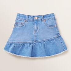 Asymmetric Denim Skirt  FADED BLUE  hi-res