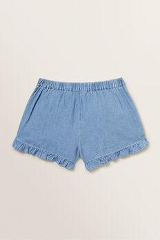 Chambray Shorts  ICE BLUE WASH  hi-res