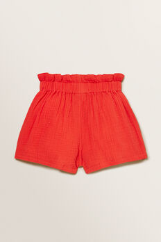 Cheesecloth Shorts  APPLE RED  hi-res