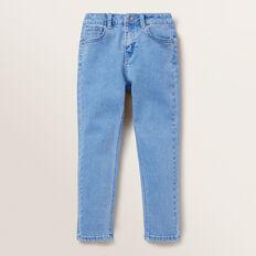 Skinny Denim Terry Pants  BRIGHT WASH  hi-res