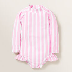 Stripe Rashsuit  FAIRY FLOSS/WHITE  hi-res