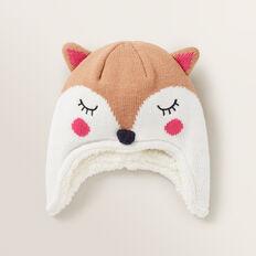 Fox Ear Beanie  MACAROON  hi-res