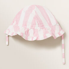 Candy Stripe Sun Hat  PINK BLUSH  hi-res