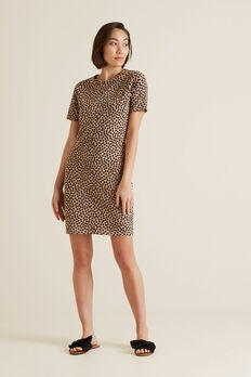 Animal T-Shirt Dress  OCELOT SPOT  hi-res