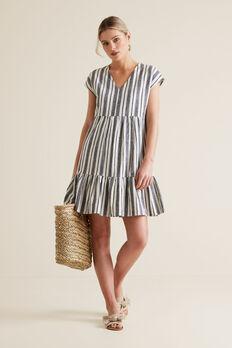 Variegated Stripe Dress  MULTI STRIPE  hi-res