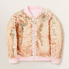 Sequin Bomber Jacket  ICE PINK  hi-res