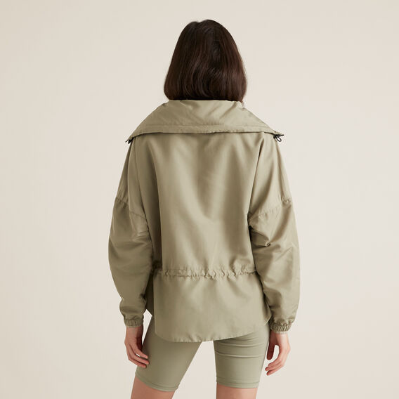 Elastic Waist Spray Jacket  WASHED OLIVE  hi-res