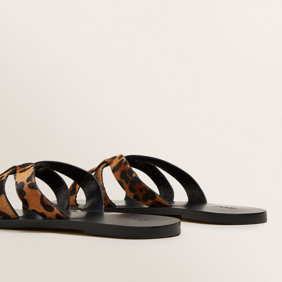 Emma Leather Slide  OCELOT  hi-res